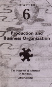 Production and Business Organiztion
