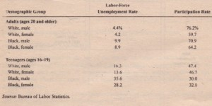 The Labor-Market Experiences of Various Demographic Groups