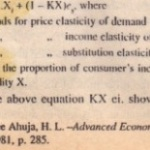 Relation Between Price Elasticity  come Elasticity and Substitution Elasticity