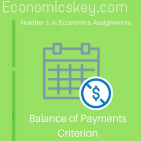 Balance of Payments Criterion