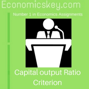 Capital output Ratio Criterion