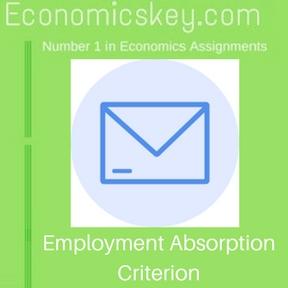 Employment Absorption Criterion
