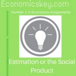 Estimation or the Social Product