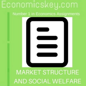 MARKET STRUCTURE AND SOCIAL WELFARE