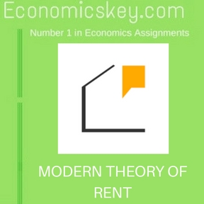 MODERN THEORY OF RENT