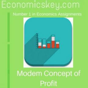 Modem Concept of Profit