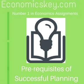 Pre-requisites of Successful Planning