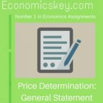 Price Determination: General Statement