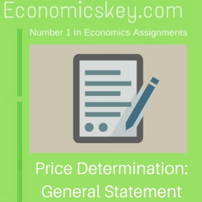 Price Determination- General Statement