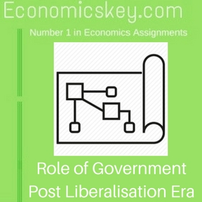 Role of Government Post Liberalisation Era