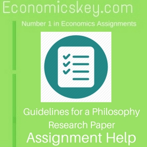 Guidelines for a Philosophy Research Paper Assignment help