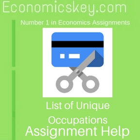 List of Unique Occupations Assignment help