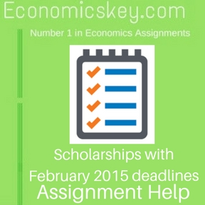 Scholarships with February 2015 deadlines Assignment help