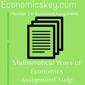 Mathematical Ways of Economics Assignment Help